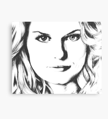 Emma Swan Black and White Canvas Print