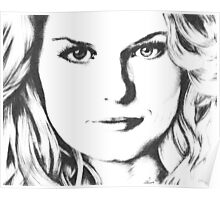 Emma Swan Black and White Poster
