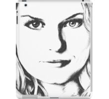 Emma Swan Black and White iPad Case/Skin