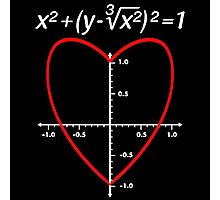 Love (Heart) Equation Valentine's Day Photographic Print