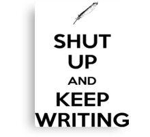 Keep Writing #1 Canvas Print