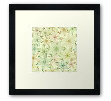 Seamless pattern with stylized flowers Framed Print