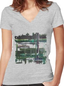 Dreary Day Women's Fitted V-Neck T-Shirt