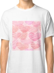 saint valentines sketched hearts Classic T-Shirt