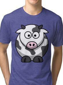 """""""Cartoon Cow"""" Tri-blend T-Shirt"""