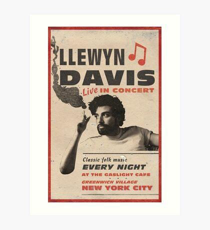 Llewyn Davis Live in Concert Art Print