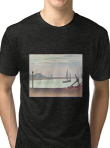 Georges Seurat The Channel at Gravelines, Evening Tri-blend T-Shirt