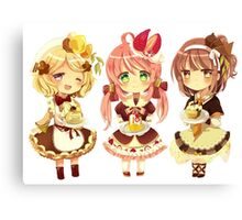 """3 Cute Chibi"" Canvas Print"