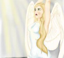 Break free symbolic angel digital painting by Tedres