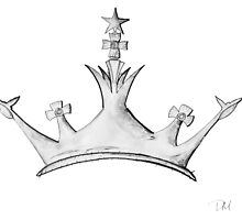Queen's Crown - Watercolor Queen / Empress / Princess Crown Design by TorchAndBrush