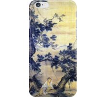 Ma Lin Quietly Listening to Wind in the Pine iPhone Case/Skin
