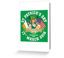 St Patricks Day Celebrations - City Of Savannah Greeting Card