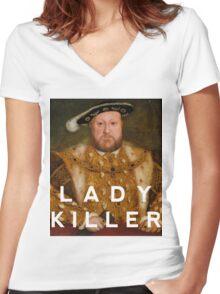 Henry the VIII- Lady Killer Women's Fitted V-Neck T-Shirt