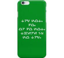Wise Yoda (white) iPhone Case/Skin