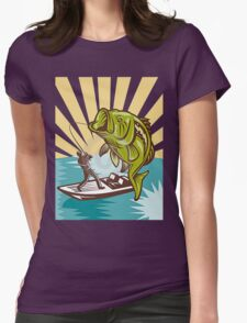 FISHING AND CATCHING Womens Fitted T-Shirt