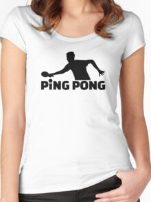 Ping Pong Women's Fitted Scoop T-Shirt