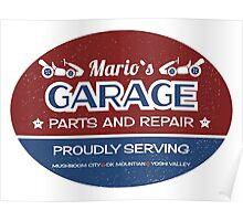 Mario's Garage Poster