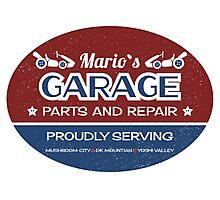 Mario's Garage Photographic Print