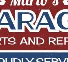 Mario's Garage Sticker