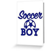 Soccer boy Greeting Card