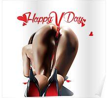 Happy Vagina Day or Valentines xox Poster