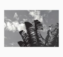 banana tree leaves black and white Kids Clothes
