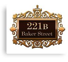 221B Baker St - Sherlock Holmes Canvas Print
