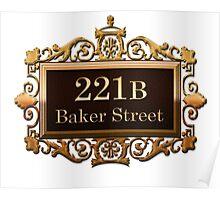 221B Baker St - Sherlock Holmes Poster