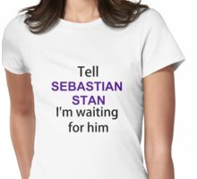 TELL SEBASTIAN STAN Womens Fitted T-Shirt