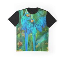 Tropic Spirits - Gold and Blue Macaws Graphic T-Shirt