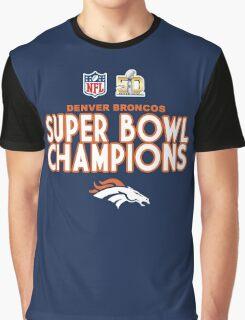 Denver Broncos - 2016 Super Bowl 50 Champions Graphic T-Shirt