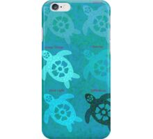 Indonesian Turtle Batik Art iPhone Case/Skin