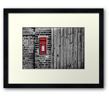 English postbox Framed Print