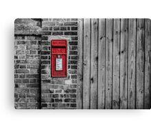 English postbox Canvas Print
