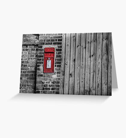 English postbox Greeting Card