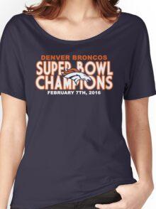 Denver Broncos - 2016 Super Bowl 50 Champions Women's Relaxed Fit T-Shirt