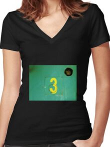 3 Women's Fitted V-Neck T-Shirt