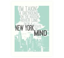 Billy Joel New York State of Mind Art Print