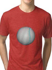 Light Blue Stiches Softball / Baseball Tri-blend T-Shirt