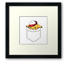 Pokemon 20th Pocket Pikachu tshirt tee Framed Print