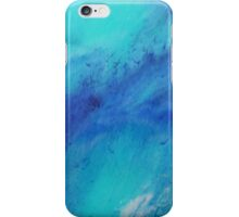 Blue abstract ocean painting iPhone Case/Skin