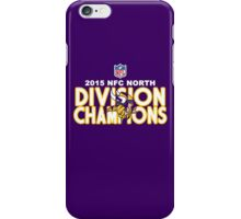 Minnesota Vikings - 2015 NFC North Champions iPhone Case/Skin