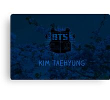 BTS V - Blue Flowers Canvas Print
