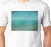Inspirational Ocean Quote by Rumi  Unisex T-Shirt