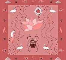 Egyptian Design - Dusty Rose by BelindaGreb