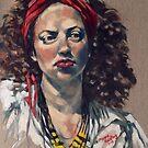 Julia© 2015 Oil on linen on board  by Elizabeth Moore Golding