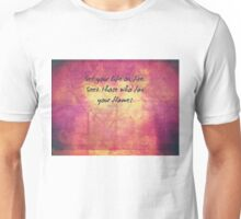 Inspirational Set Your Life On Fire Quote by Rumi  Unisex T-Shirt