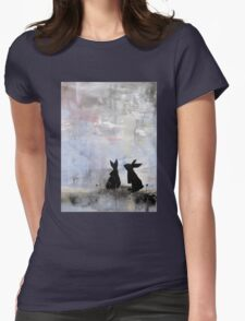 Dandelion Bunnies Womens Fitted T-Shirt