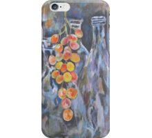 Bottles anf grapes iPhone Case/Skin