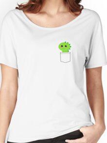 Pocket cute dino (T-Rex) Women's Relaxed Fit T-Shirt
